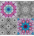 seamless black and white tiled moroccan pattern vector image vector image