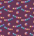 seamless funny texture with colorful buntings vector image vector image