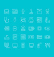 set line icons hardware vector image