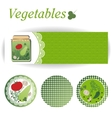 Set of rectangular and round stickers for canned