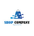 shop business logo vector image vector image