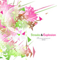 Streaks and explosion background vector image