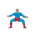 Superhero Squat Front Isolated Cartoon vector image vector image