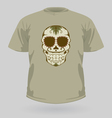 T-shirt with tribal sugar skull vector image vector image