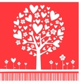tree made hearts vector image
