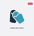 two color boxed line stocks icon from user vector image vector image
