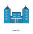 university building flat vector image vector image