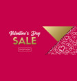valentines day sale banner template vector image vector image