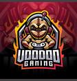 voodoo gaming esport mascot logo vector image vector image
