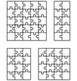 white jigsaw puzzles vector image vector image