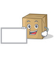 with board cardboard character character vector image