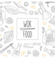 wok food banner template traditional asian menu