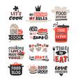 food logotype restaurant vintage design cooking vector image
