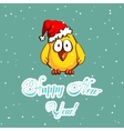 Little Chicken And Snowflakes vector image