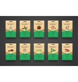 Template a set of bags with spices vector image