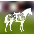 Concept of racing horse silhouette with text vector image