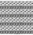 Ethnic geometric pattern of diamonds and vector image