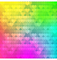 abstract rainbow background from hearts vector image