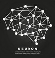 abstract brain neural network poster design vector image