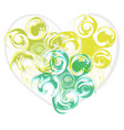 Abstract green rose heart
