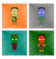 assembly flat shading style icon zombie men vector image vector image