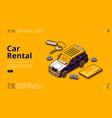 banner car rental vector image