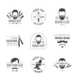 Barber logos set vector image vector image