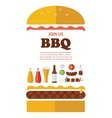 BBQ party invitation designed as a hamburger vector image vector image