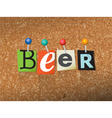 BeerConcept vector image vector image