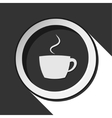 black icon with cup and stylized shadow vector image vector image