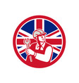british engineer union jack flag icon vector image vector image