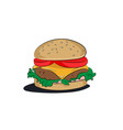 burger menu of a burger retro vector image vector image