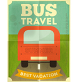 bus travel poster vector image vector image