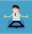 businessman doing yoga vector image