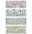 chemistry lab banner set outline style vector image vector image