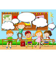 Children playing in the classroom vector image vector image