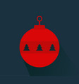 christmas ball icon vector image vector image