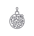 christmas ball line icon concept christmas ball vector image vector image