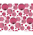 circle red beads on white background creative vector image vector image