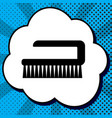 cleaning brush hygiene tool sign black vector image vector image