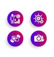 cogwheel employees wealth and refresh website vector image vector image