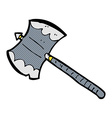 comic cartoon double sided axe vector image vector image