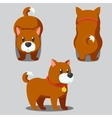 Cute round dog stylized pet Funny cartoon vector image vector image