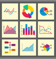 diagram chart graph elements business vector image vector image