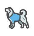 dog clothes clothing icon cartoon vector image