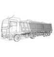 dump truck tipper lorry on transparent vector image