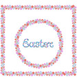 easter hand lettering round and square flower vector image vector image