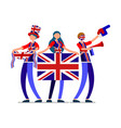 english flag uk people united kingdom day vector image vector image
