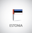 estonia flag pin vector image vector image