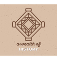 ethnic tribal amulet sigh with white text vector image vector image